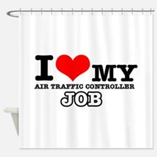 Air Traffic Controllers Job Designs Shower Curtain