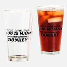 Donkey Designs Drinking Glass