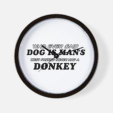 Donkey Designs Wall Clock