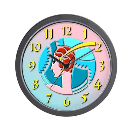 Art Deco Girl Wall Clock