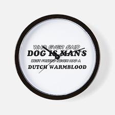 Dutch Warm Blood Designs Wall Clock