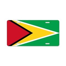 Flag of Guyana Aluminum License Plate