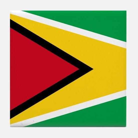 Flag of Guyana Tile Coaster