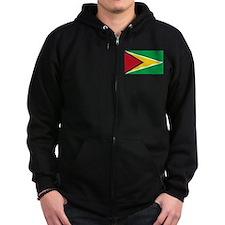 Flag of Guyana Zip Hoodie