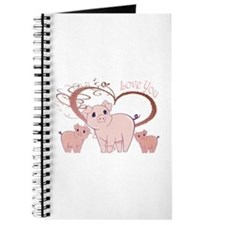 Love You, Cute Piggies Art Journal