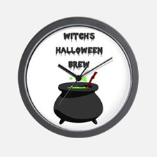 witchs halloween brew Wall Clock