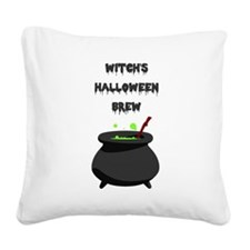 witchs halloween brew Square Canvas Pillow