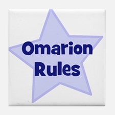 Omarion Rules Tile Coaster