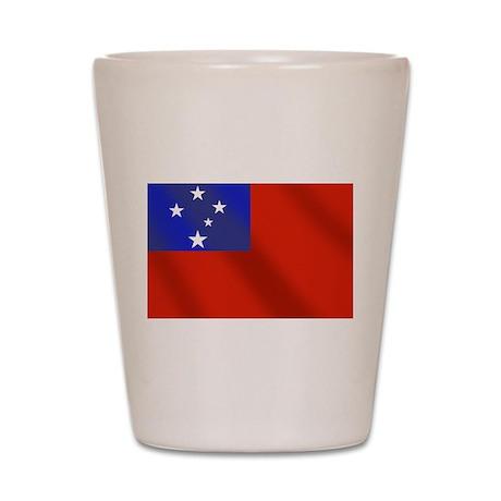 Flag of Samoa Shot Glass