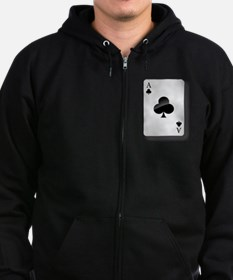 Ace of Clubs Zip Hoody
