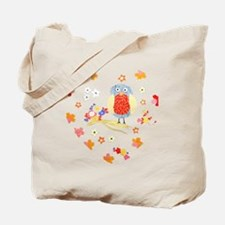 Blossom Owl Floral Heart Tote Bag