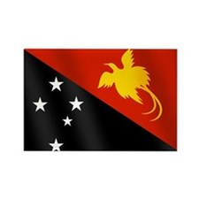 Papau New Guinea Flag Rectangle Magnet