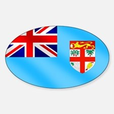 Flag of Fiji Sticker (Oval)