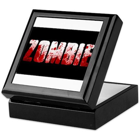 zombie sign Keepsake Box