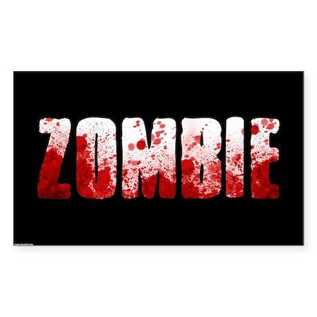 zombie sign Sticker