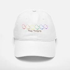 Happy Thanksgiving (Rainbow T Baseball Baseball Cap