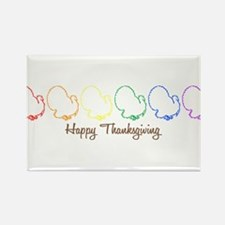 Happy Thanksgiving (Rainbow T Rectangle Magnet