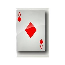 Ace of Diamonds Rectangle Magnet