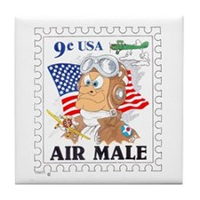 AIR MALE Tile Coaster