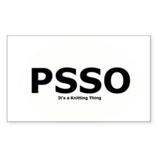 PSSO - It's a Knitting Thing Decal