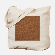 Brown Paisley. Tote Bag