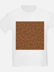 Brown Paisley. T-Shirt