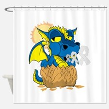 Down Syndrome Baby Dragon Shower Curtain