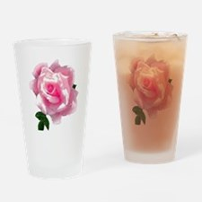 pink rose Drinking Glass