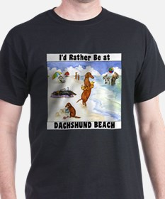 Dachshund Beach T-Shirt