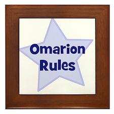 Omarion Rules Framed Tile