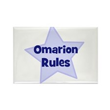 Omarion Rules Rectangle Magnet (10 pack)