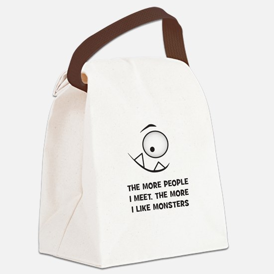 The more I Like Monsters Canvas Lunch Bag