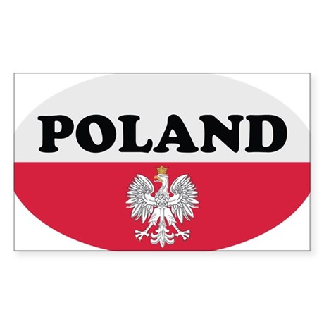 Poland Sticker-v3 Oval Sticker
