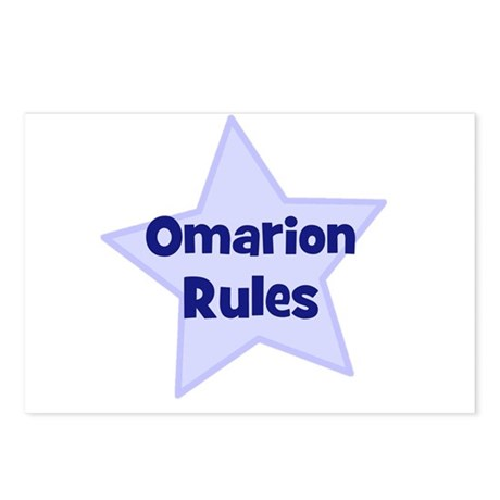 Omarion Rules Postcards (Package of 8)