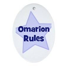 Omarion Rules Oval Ornament