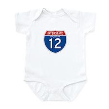 Interstate 12 - LA Infant Bodysuit