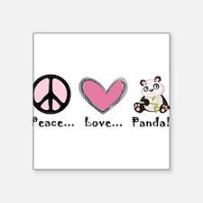 Peace... love... panda! Sticker