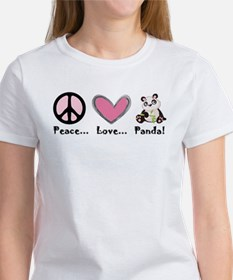 Peace... love... panda! T-Shirt