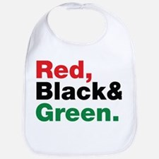 Red, Black and Green. Bib