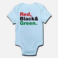Red, Black and Green. Infant Bodysuit