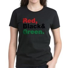 Red, Black and Green. Tee