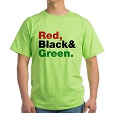 Red, Black and Green. T-Shirt