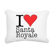 Love Santa Royale Rectangular Canvas Pillow