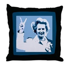 MAGGIE THATCHER VICTORY PRINT Throw Pillow