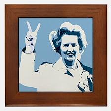 MAGGIE THATCHER VICTORY PRINT Framed Tile