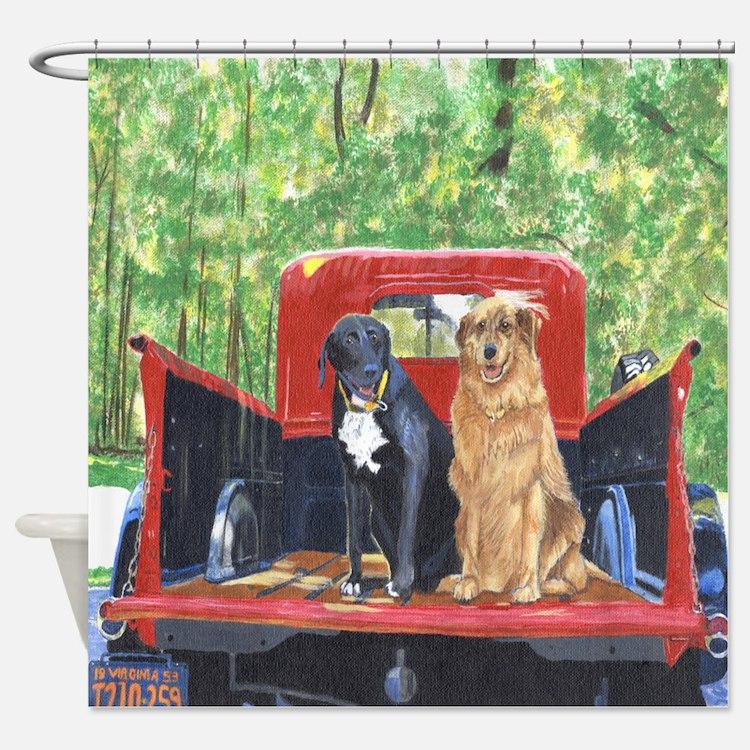 Antique Truck Shower Curtain