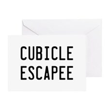 Cubicle Escapee Greeting Card