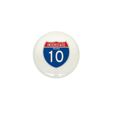 Interstate 10 - TX Mini Button (100 pack)
