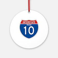 Interstate 10 - TX Ornament (Round)
