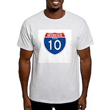 Interstate 10 - TX Ash Grey T-Shirt